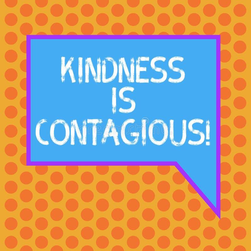 Att skriva anmärkningen som visar vänlighet, är smittsamt Affärsfotoet som ställer ut det, antänder lusten att göra en gentjänst  royaltyfri illustrationer