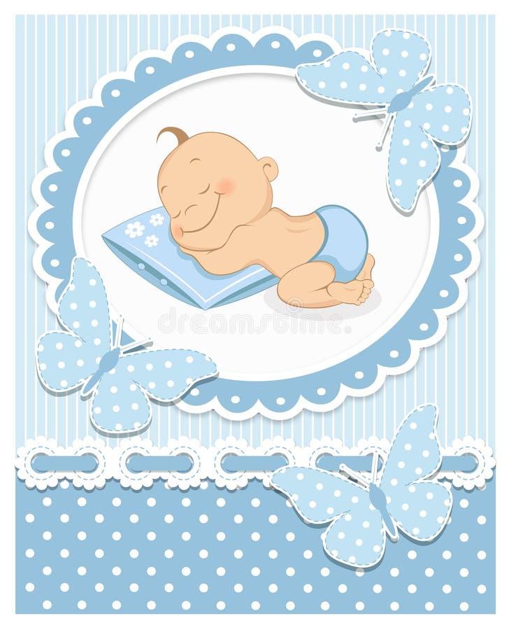 Att sova behandla som ett barn pojken stock illustrationer