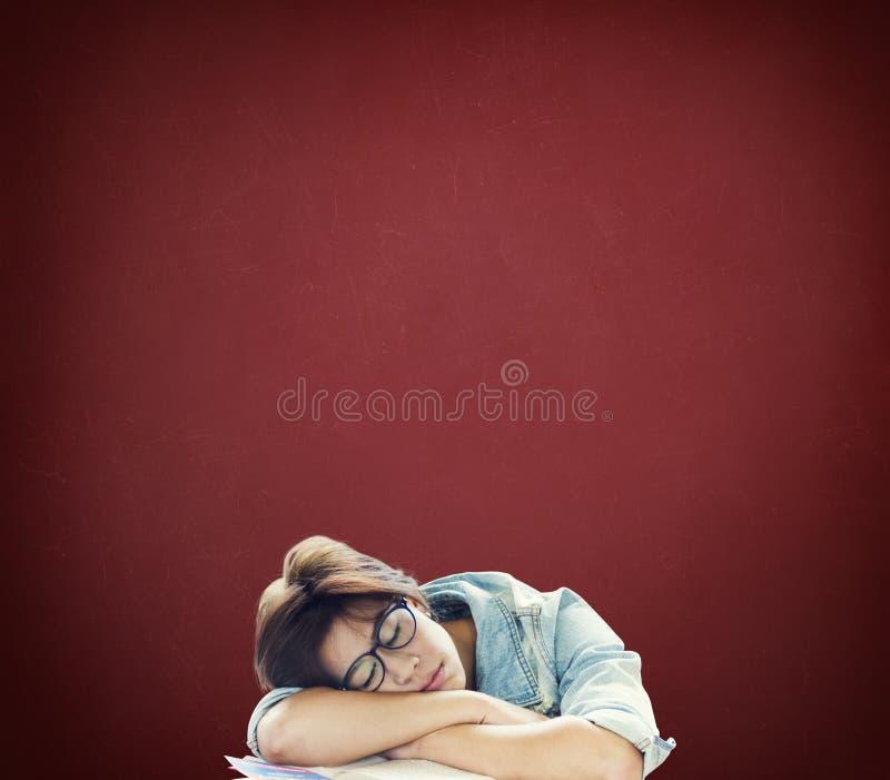 Att sova som är sömnigt, vilar avbrottet Nap Slumber Concept royaltyfria foton