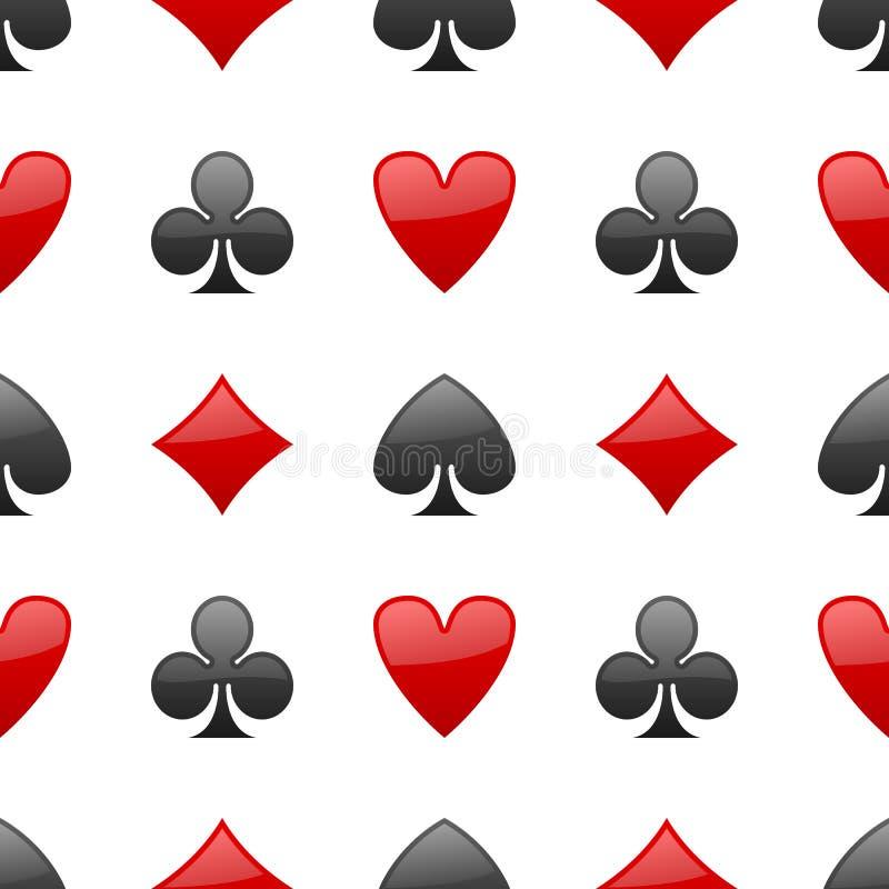 Att spela Cards den sömlösa modellen för dräkter vektor illustrationer