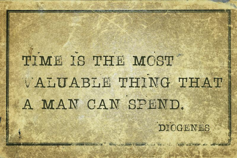 Att att spendera Diogen arkivbilder