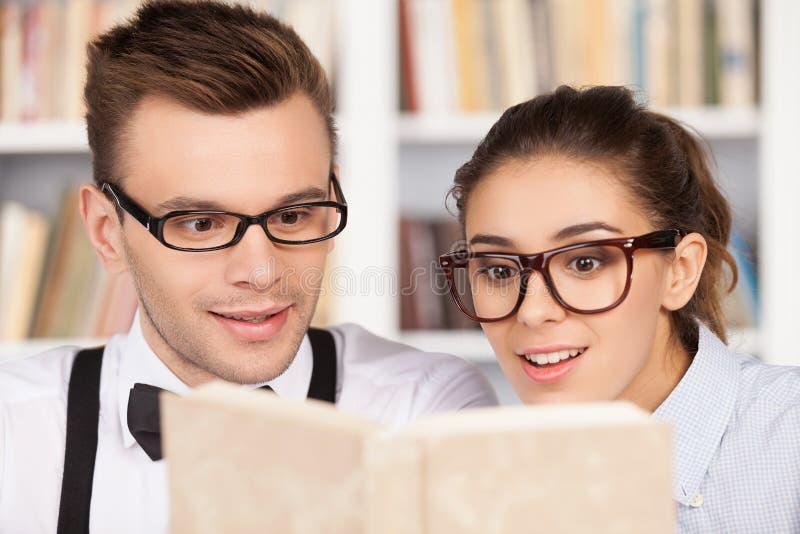Att studera tillsammans är roligt. royaltyfri bild