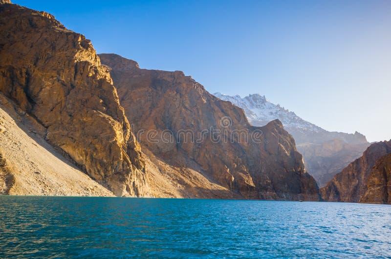 Attabad湖,北巴基斯坦 库存照片