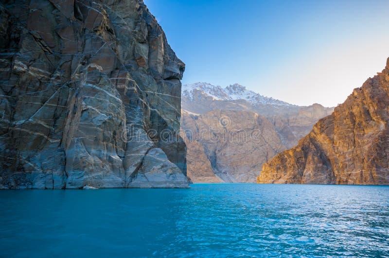 Attabad湖,北巴基斯坦 图库摄影