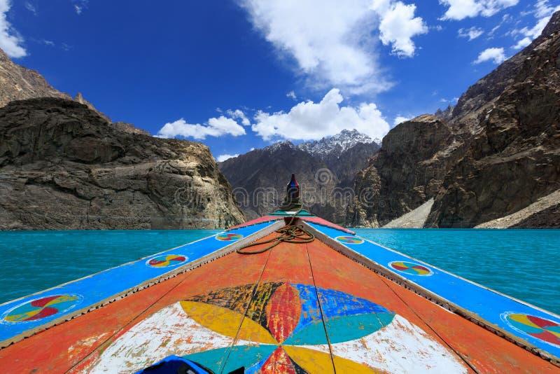Attabad湖巴基斯坦 免版税库存图片