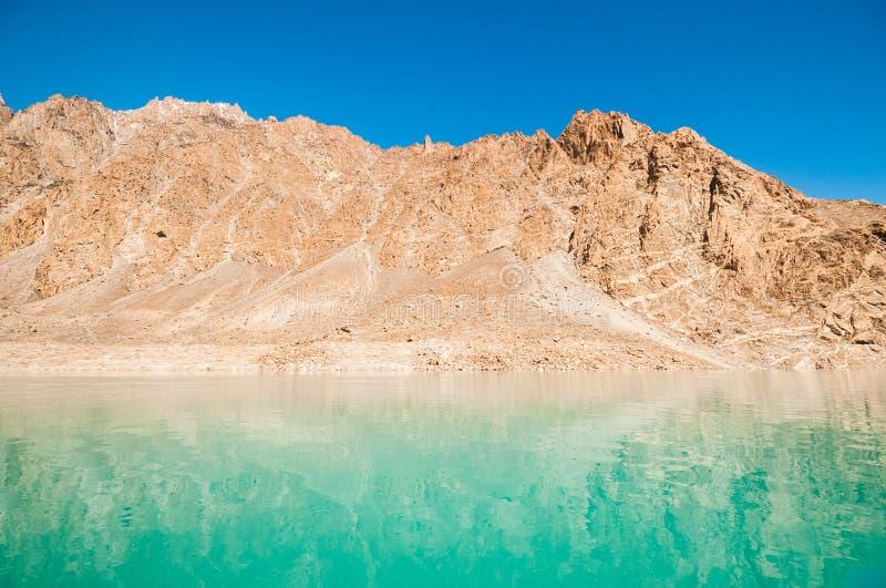 Attabad湖 免版税图库摄影
