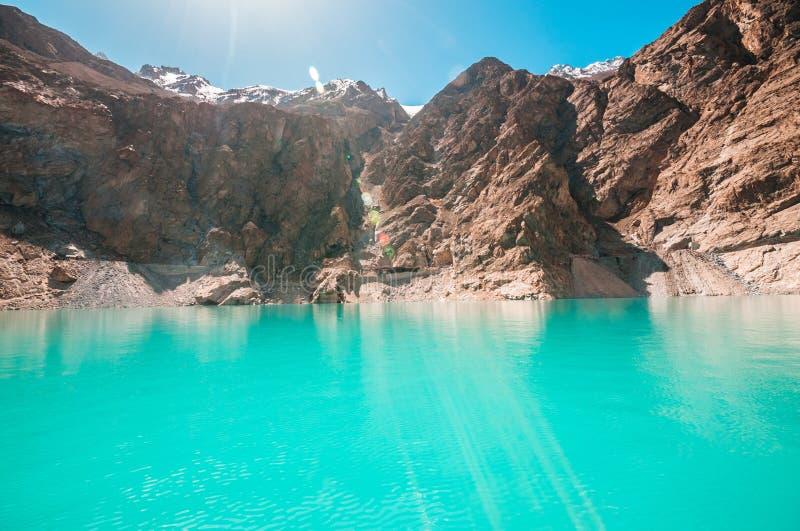 Attabad湖 图库摄影