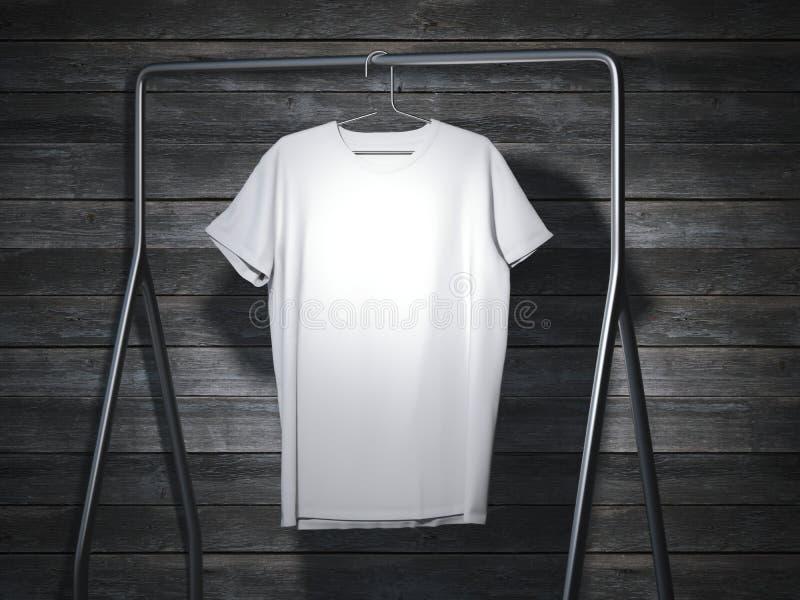 Attaccatura bianca in bianco della maglietta rappresentazione 3d royalty illustrazione gratis