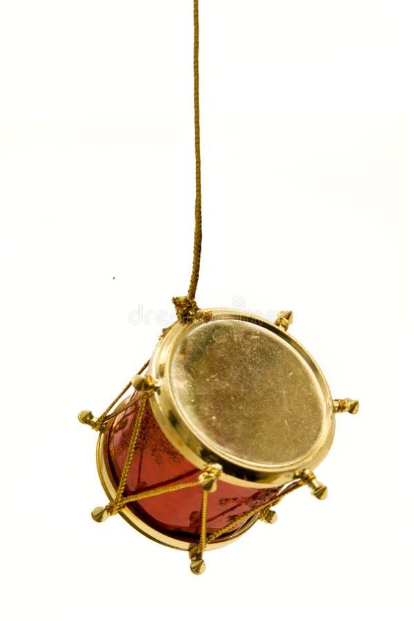 Attaccatura del tamburo di natale fotografia stock libera da diritti