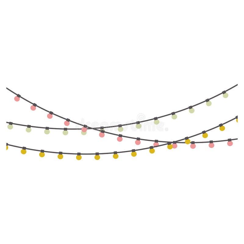 Attaccatura della lampadina del cavo di estensione di colore pastello illustrazione vettoriale