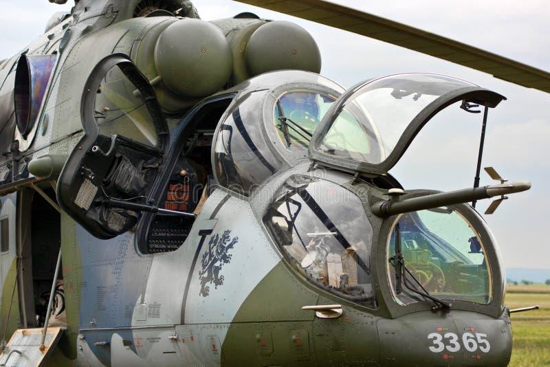 Attacco con elicottero fotografia stock libera da diritti