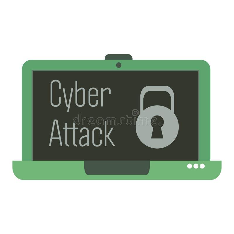 Attacco cyber royalty illustrazione gratis