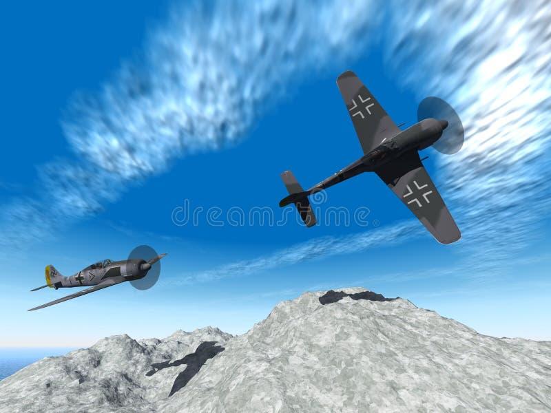 Attacco degli aerei di seconda guerra mondiale royalty illustrazione gratis