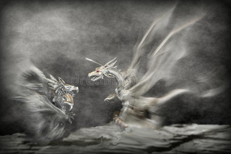 Attacco dei draghi immagini stock