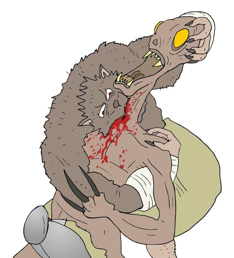 Download Attacco del lupo illustrazione vettoriale. Illustrazione di furfante - 55356561