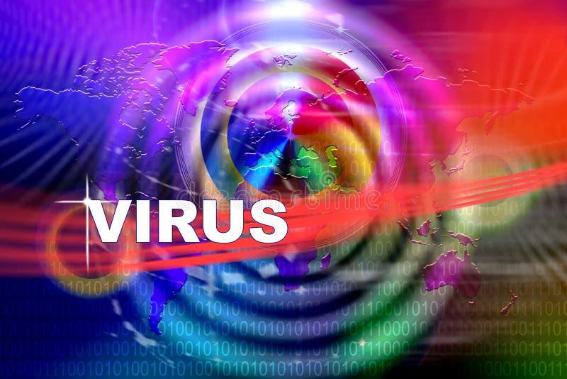Attacco del virus illustrazione di stock