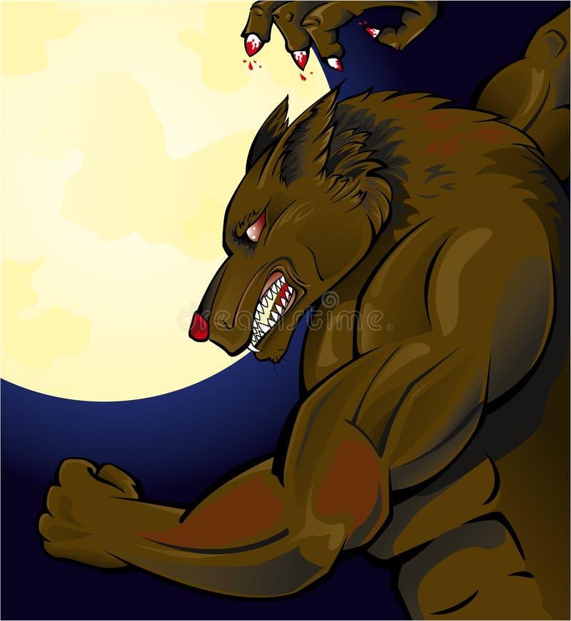 Attacco del Werewolf royalty illustrazione gratis