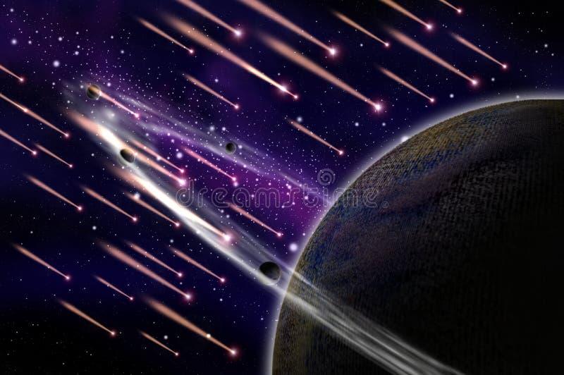 Attacco della meteora l'asteroide royalty illustrazione gratis