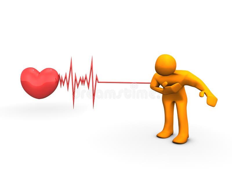 Attacco di cuore illustrazione vettoriale