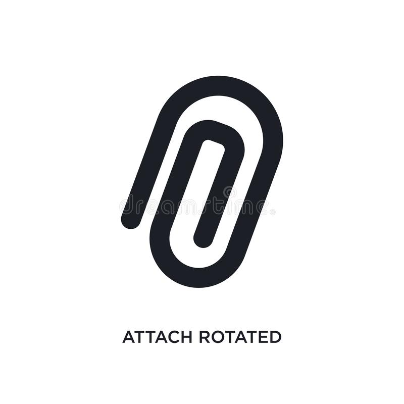 attach rotated isolated icon. simple element illustration from ultimate glyphicons concept icons. attach rotated editable logo stock illustration