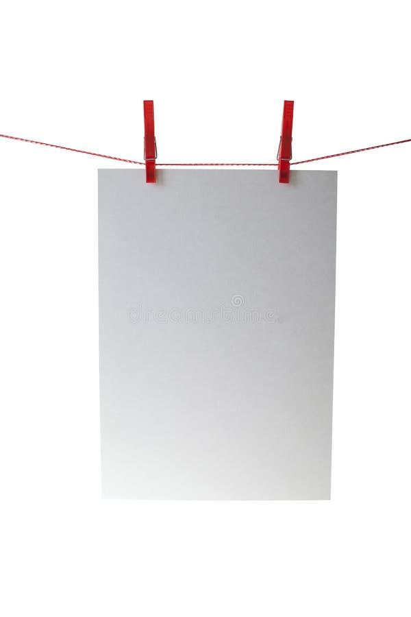 attach ubrań papierowe szpilki rope fotografia royalty free