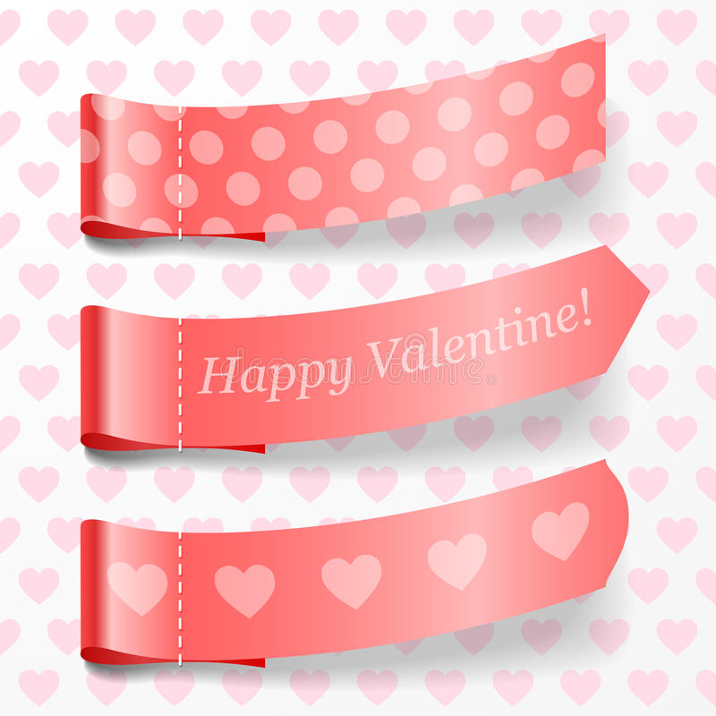 Download Attach valentine ribbons. stock vector. Image of abstract - 29061527