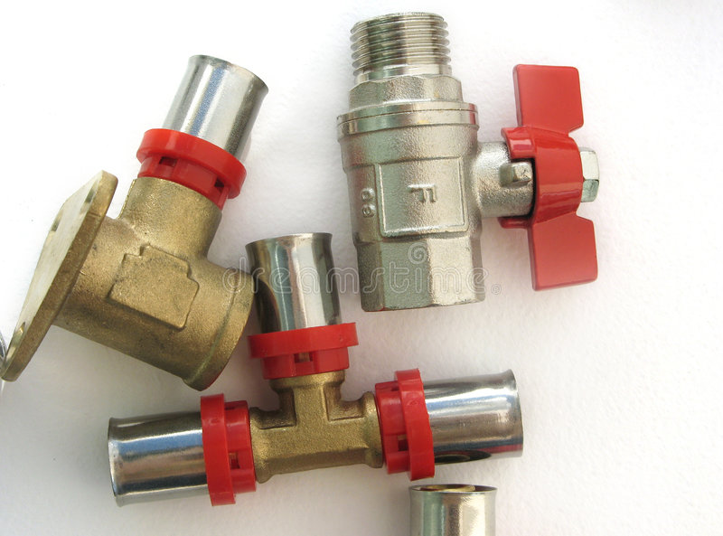 Attach for water pipe. The components for attach a water pipes royalty free stock photos