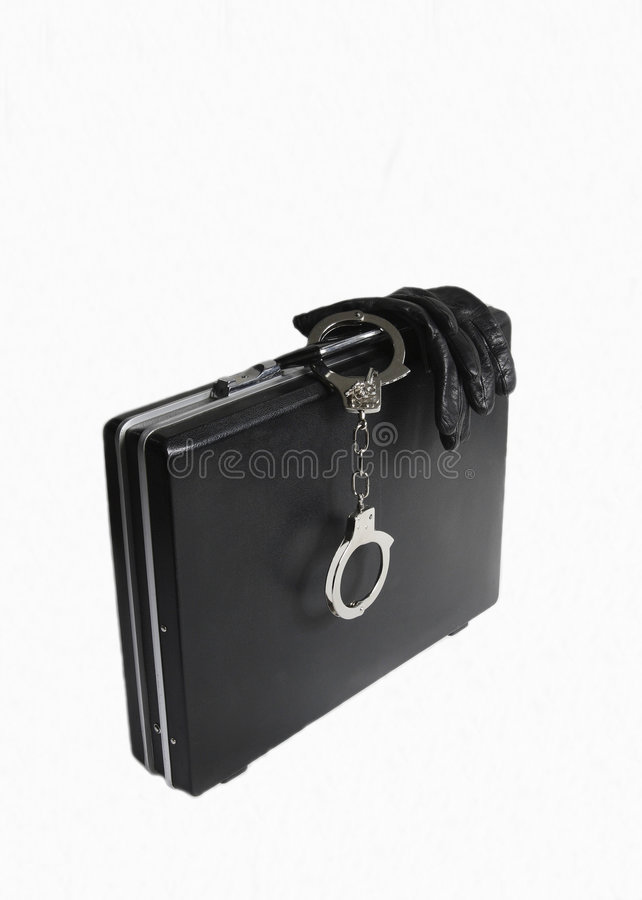 Download Attache Case With Attached Handcuffs Stock Image - Image: 6452831