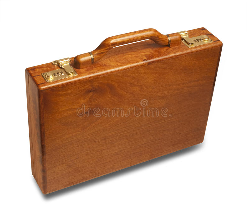Attache case upright,isolated royalty free stock image