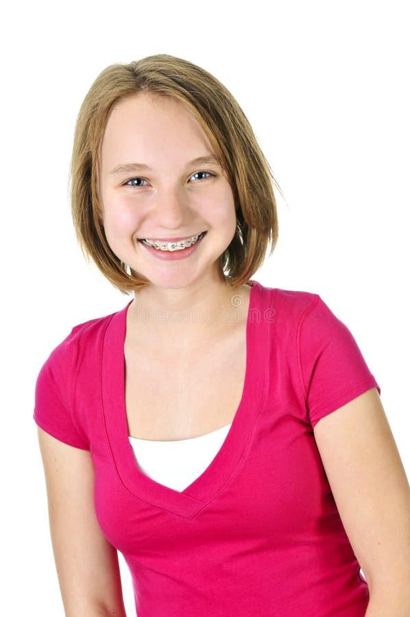 attache le sourire de fille d'adolescent photo stock