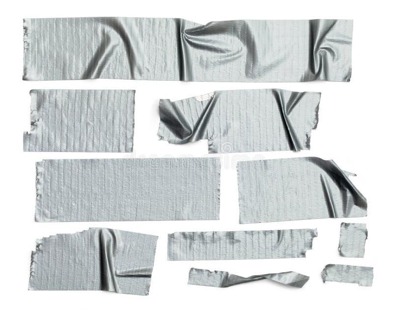 Attachez du ruban adhésif au conduit de morceaux photos stock