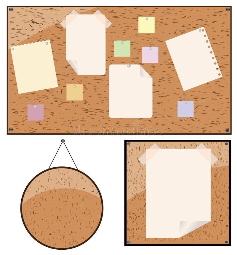 Download Attachez Le Papier De Panneau-réclame à En Bois Illustration de Vecteur - Illustration du pointes, blanc: 8655045
