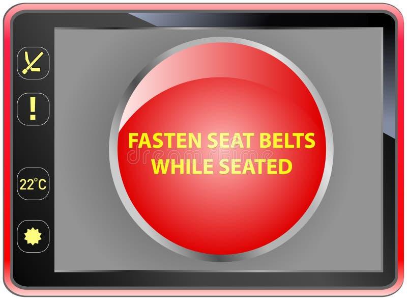 attachez les ceintures de sécurité illustration libre de droits