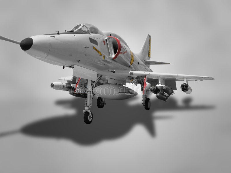 Download Attack Aircraft stock image. Image of powerful, metal - 7567127