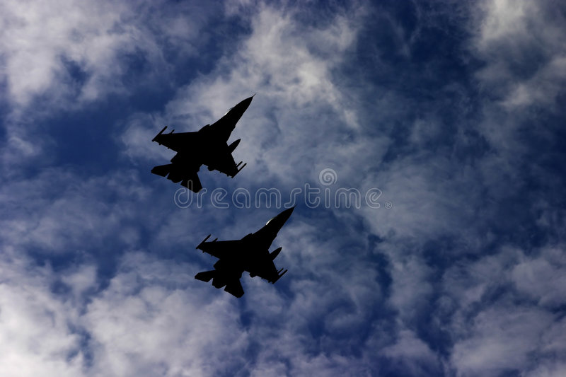Download Attack airplanes stock image. Image of silhouette, movement - 344417