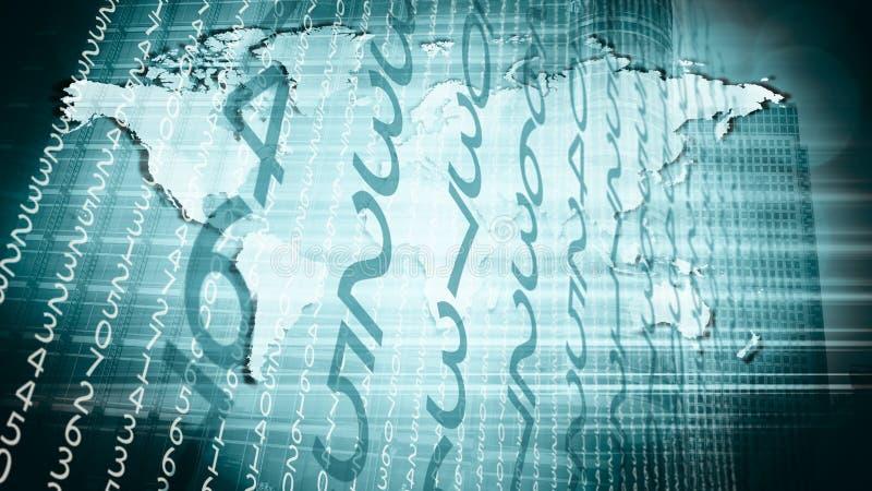 Attack för säkerhet för cyber för nätverk för världslandsinternet vektor illustrationer