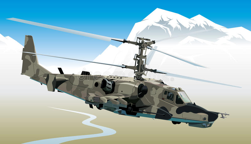 Attack helicopter royalty free illustration