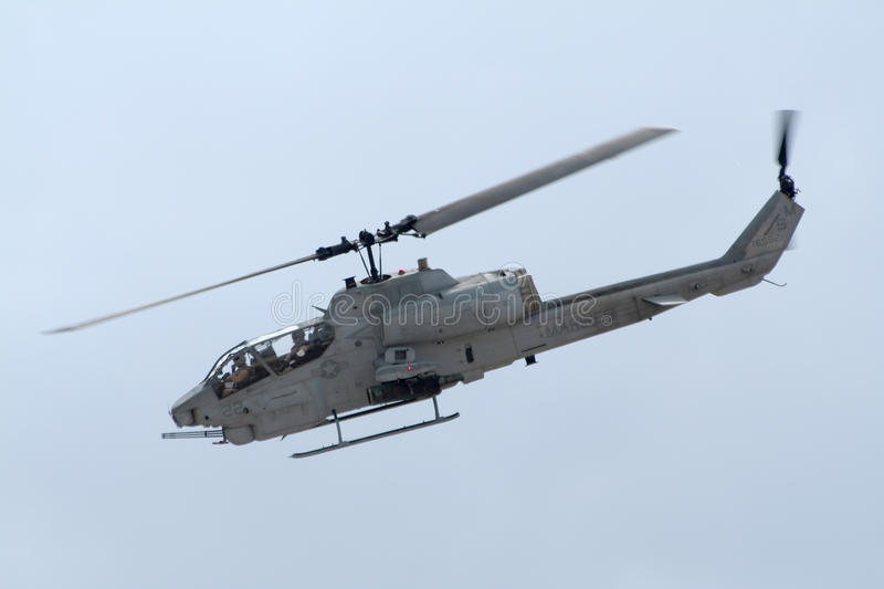 Attack helicopter stock image