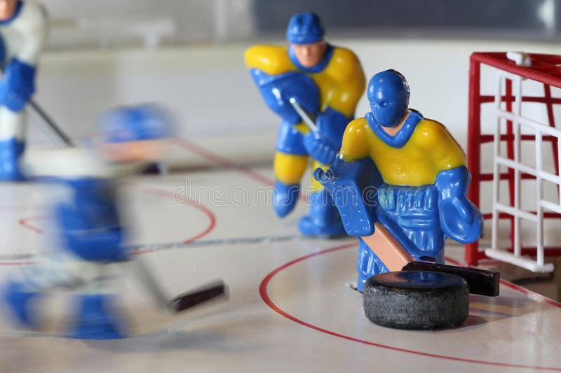 Attack ice hockey table game royalty free stock photography