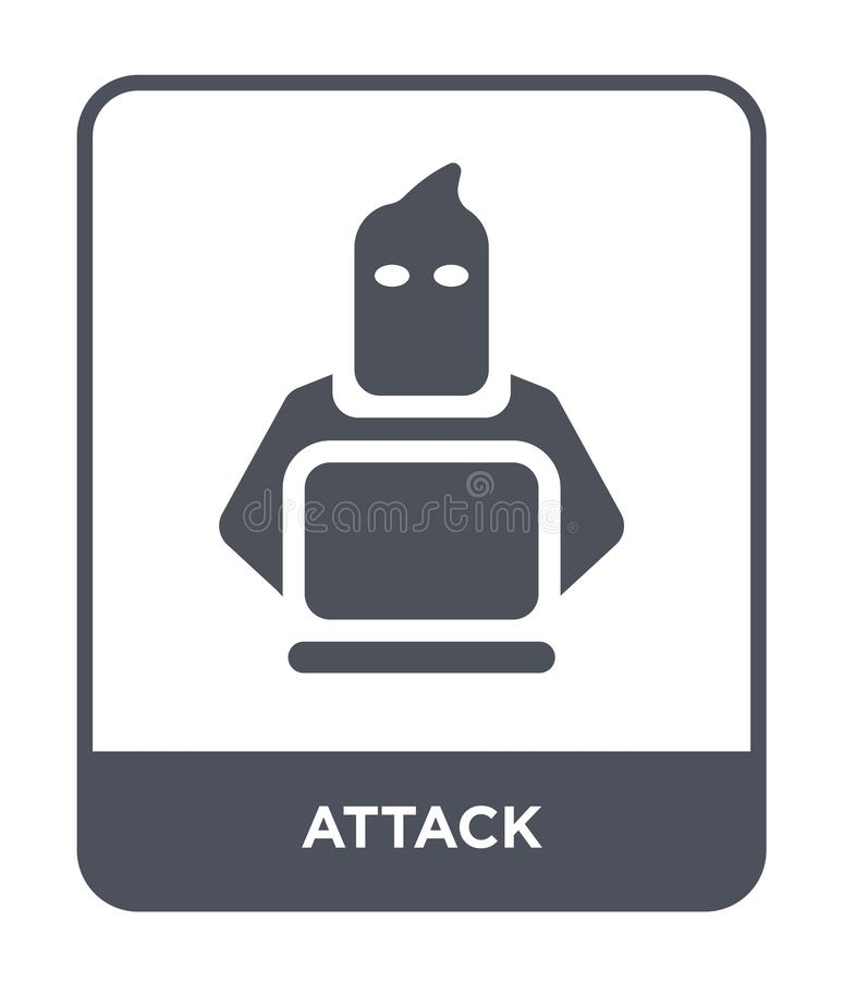attack icon in trendy design style. attack icon isolated on white background. attack vector icon simple and modern flat symbol for royalty free illustration