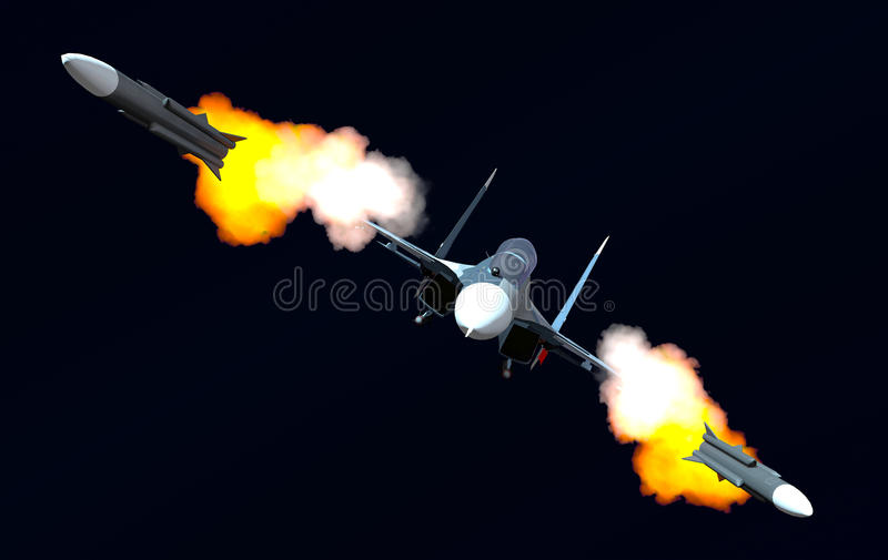 Attack of the plane vector illustration