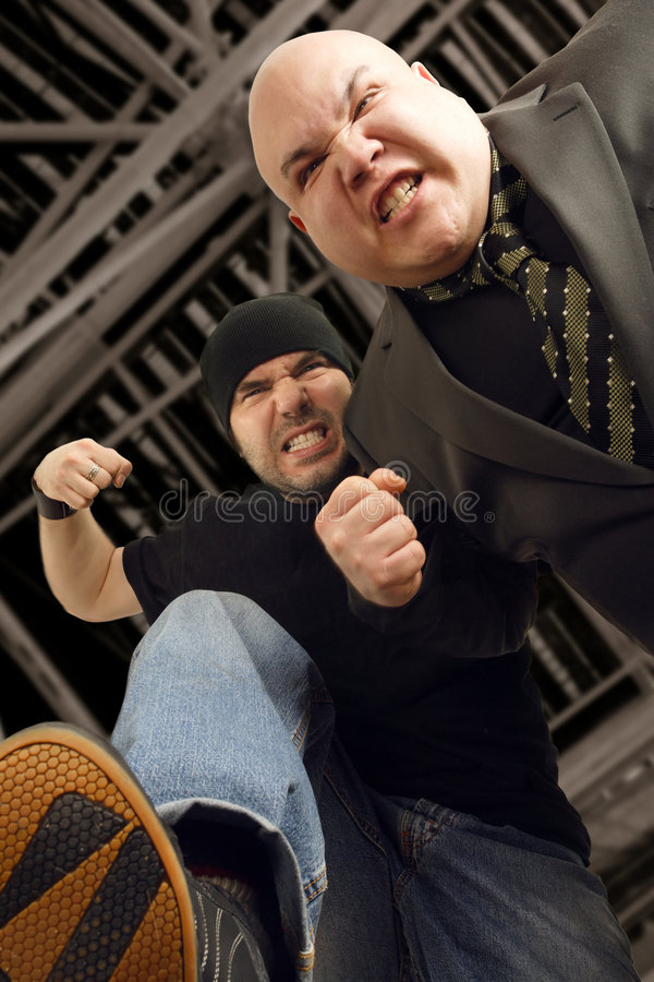 Attack of the thugs stock images