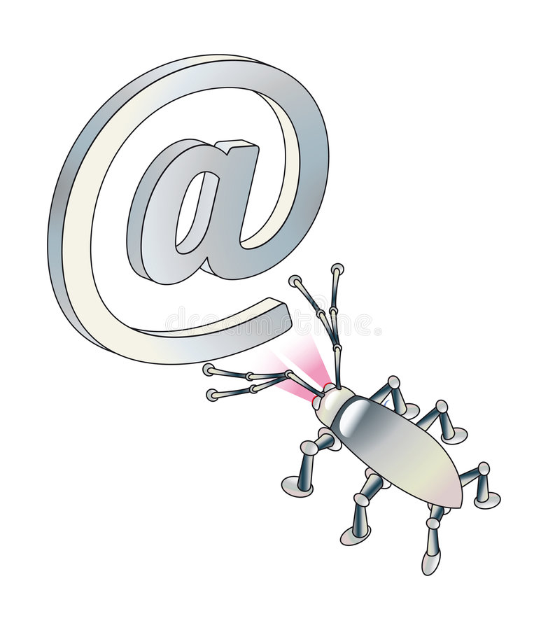Download Attack Of Virus Or Spy On E-mail. Stock Illustration - Image: 7913145