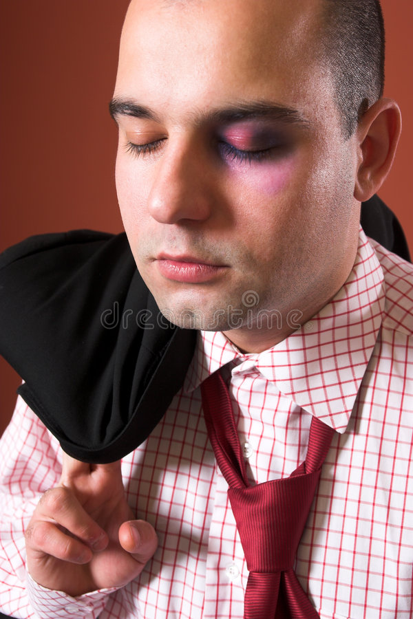Attacked A Businessman Stock Photography