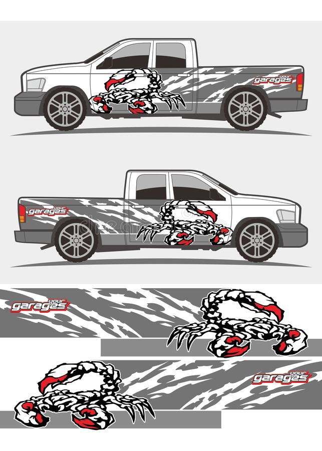 Download attacked scorpion decal graphics kits design for trucks and van stock vector illustration of