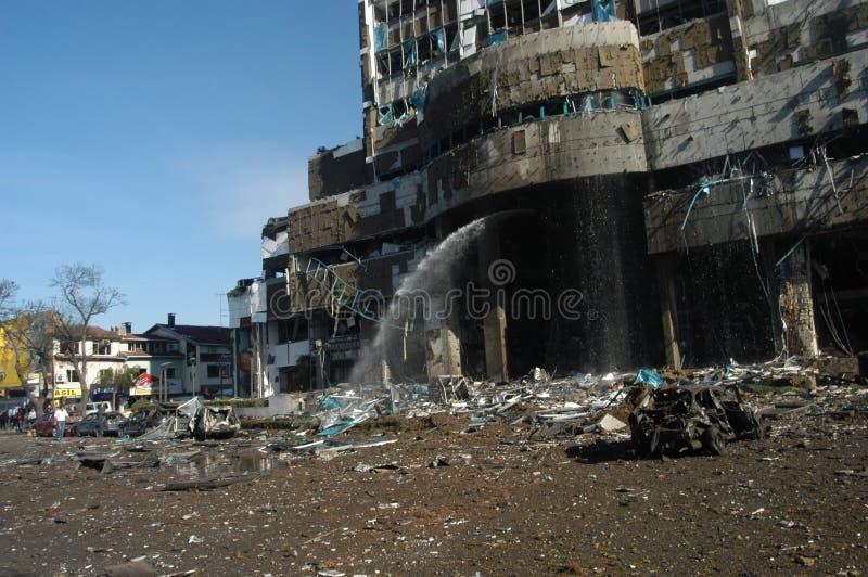 attackgruppen bombarderar hsbc royaltyfri fotografi
