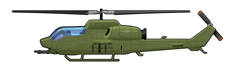 Attackhelikopter vektor illustrationer