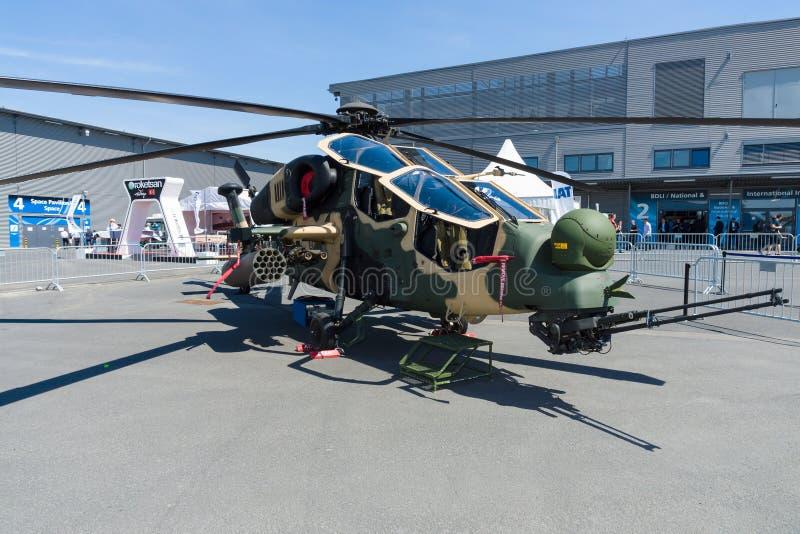 Attackhelikopter TAI-AgustaWestland T129 ATAK arkivbild