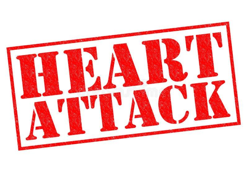 attackhjärta håller mannen royaltyfri illustrationer