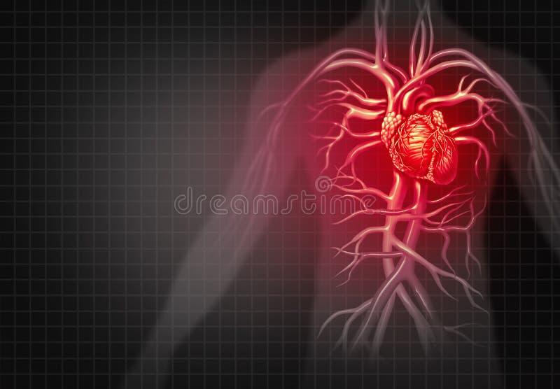 attackhjärta håller mannen stock illustrationer